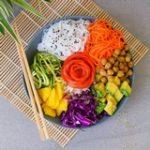 Veganer Salat mit Kichererbsen