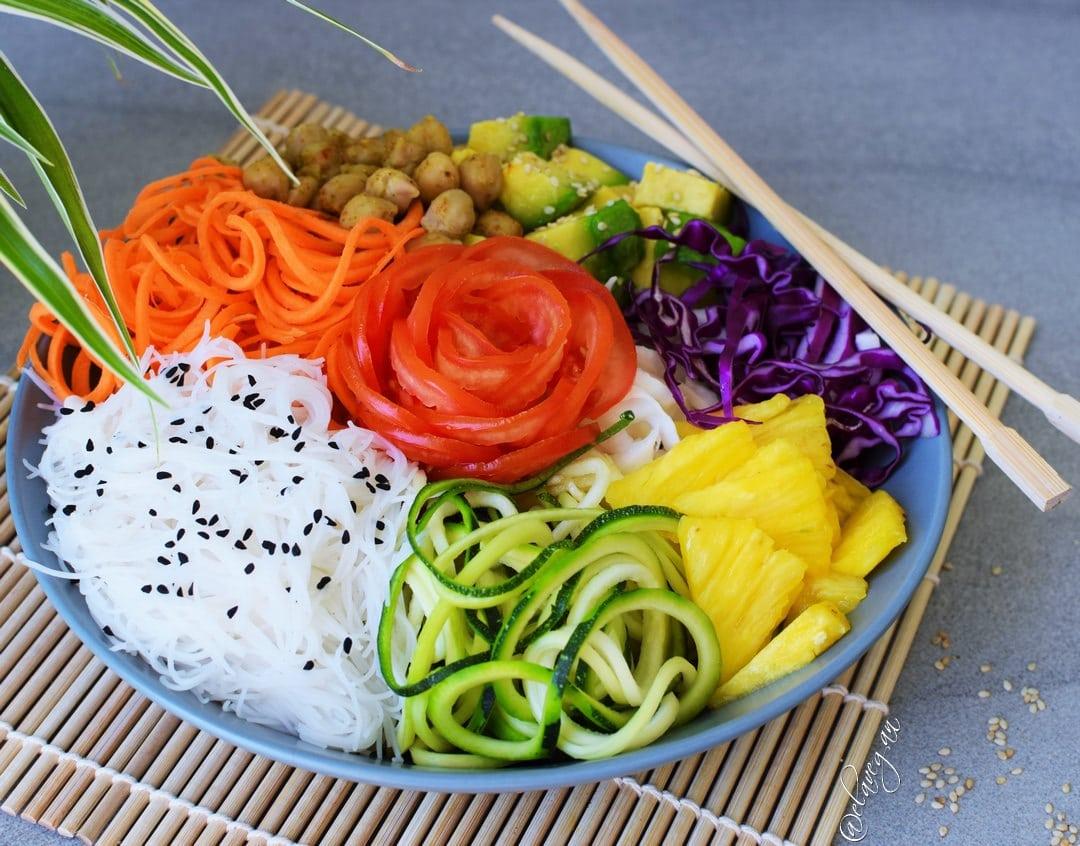 Veganer Salat bzw. leckere Buddha Bowl