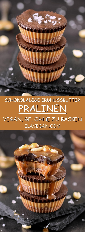 Erdnussbutter Pralinen vegan, glutenfrei ohne zu backen