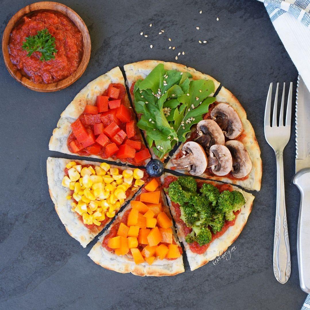 Pizzateig Rezept mit Gemüse