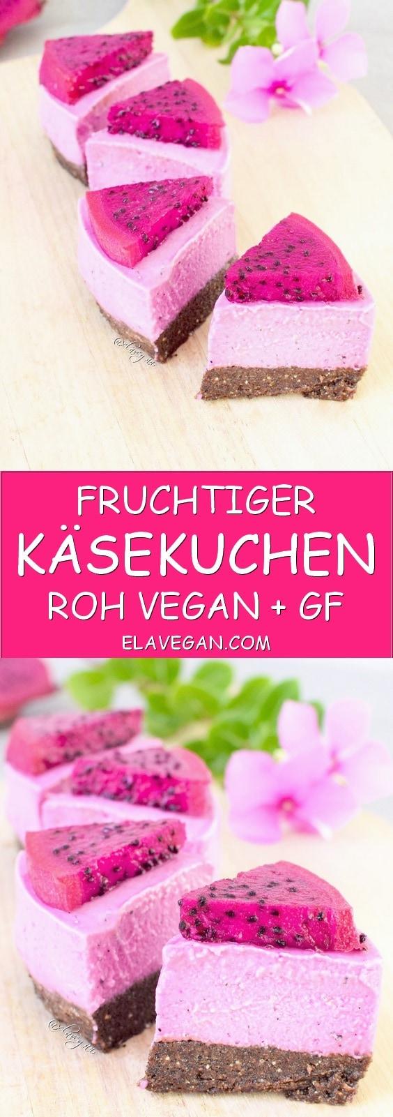 fruchtiger Käsekuchen mit Drachenfrucht Pinterest