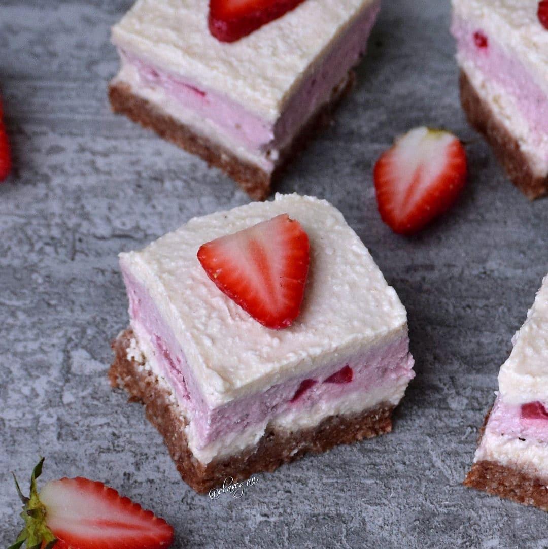 Erdbeer-Kokos Torte ohne zu backen und milchfrei