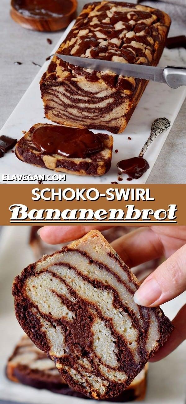 Pinterest Collage Schoko Bananenbrot Rezept