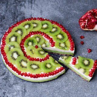 Fruchtiger Kuchen ohne zu backen | vegan, gf