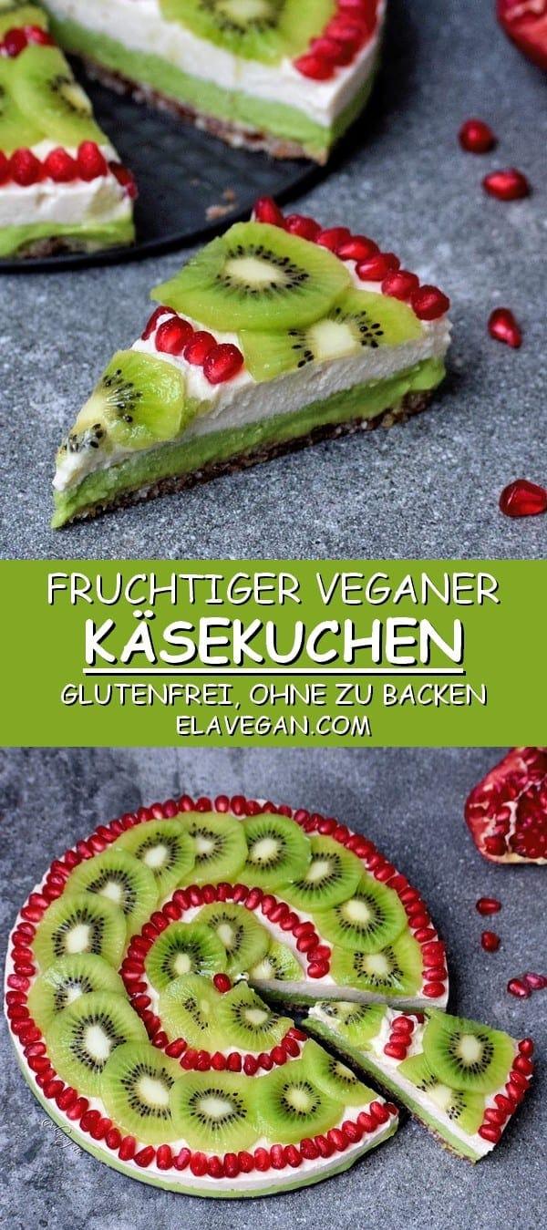 fruchtiger veganer kuchen ohne zu backen glutenfreier käsekuchen