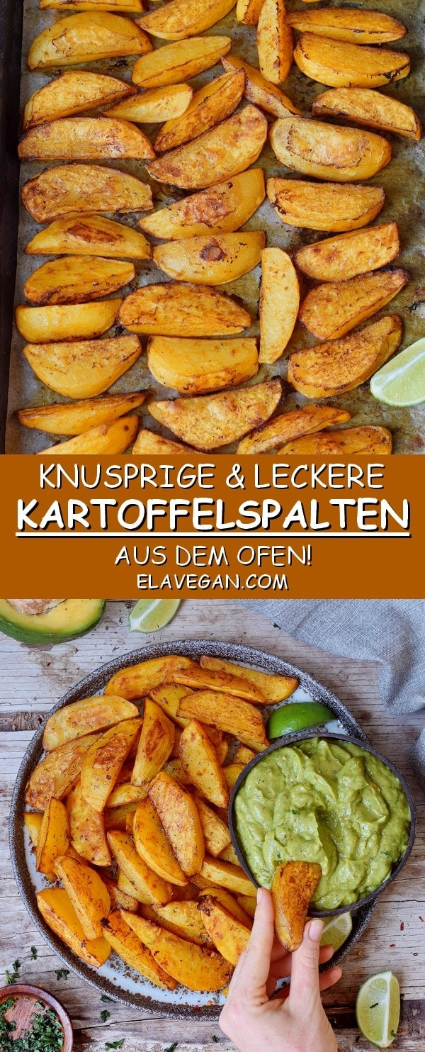Knusprige Kartoffelspalten aus dem Ofen vegan glutenfrei