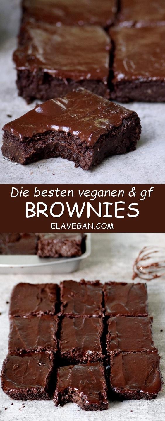 die besten brownies vegan, glutenfei aus Erbsen Pinterest