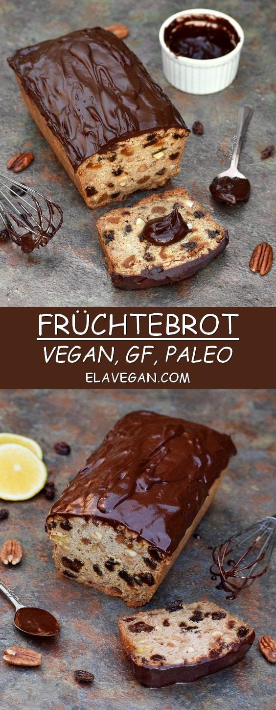 Früchtebrot vegan, glutenfrei, paleo Pinterest