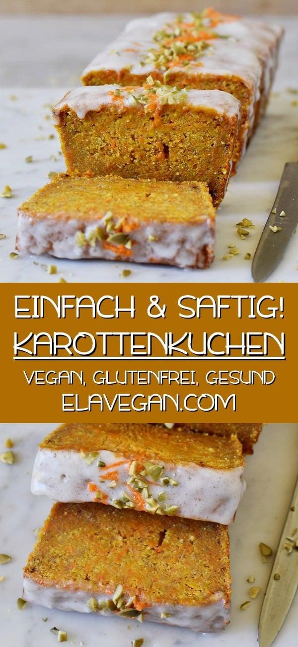 Pinterest Collage Karottenkuchen vegan glutenfrei