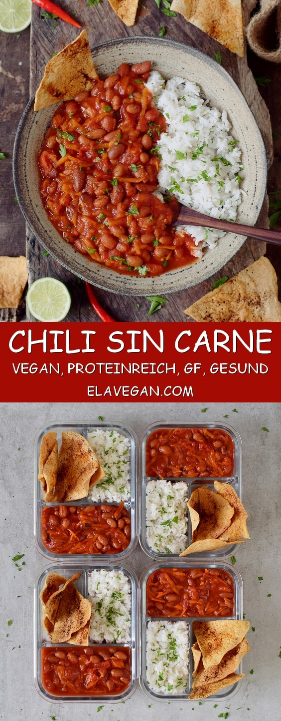 Chili Sin Carne Veganes Rezept Mit Bohnen Elavegan