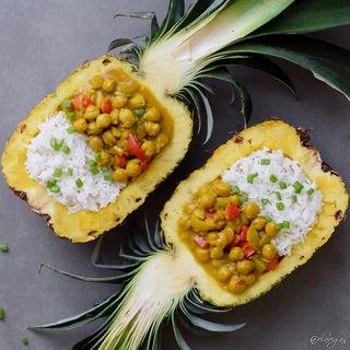 Gemüse Curry Rezept mit Ananas | vegan, glutenfrei