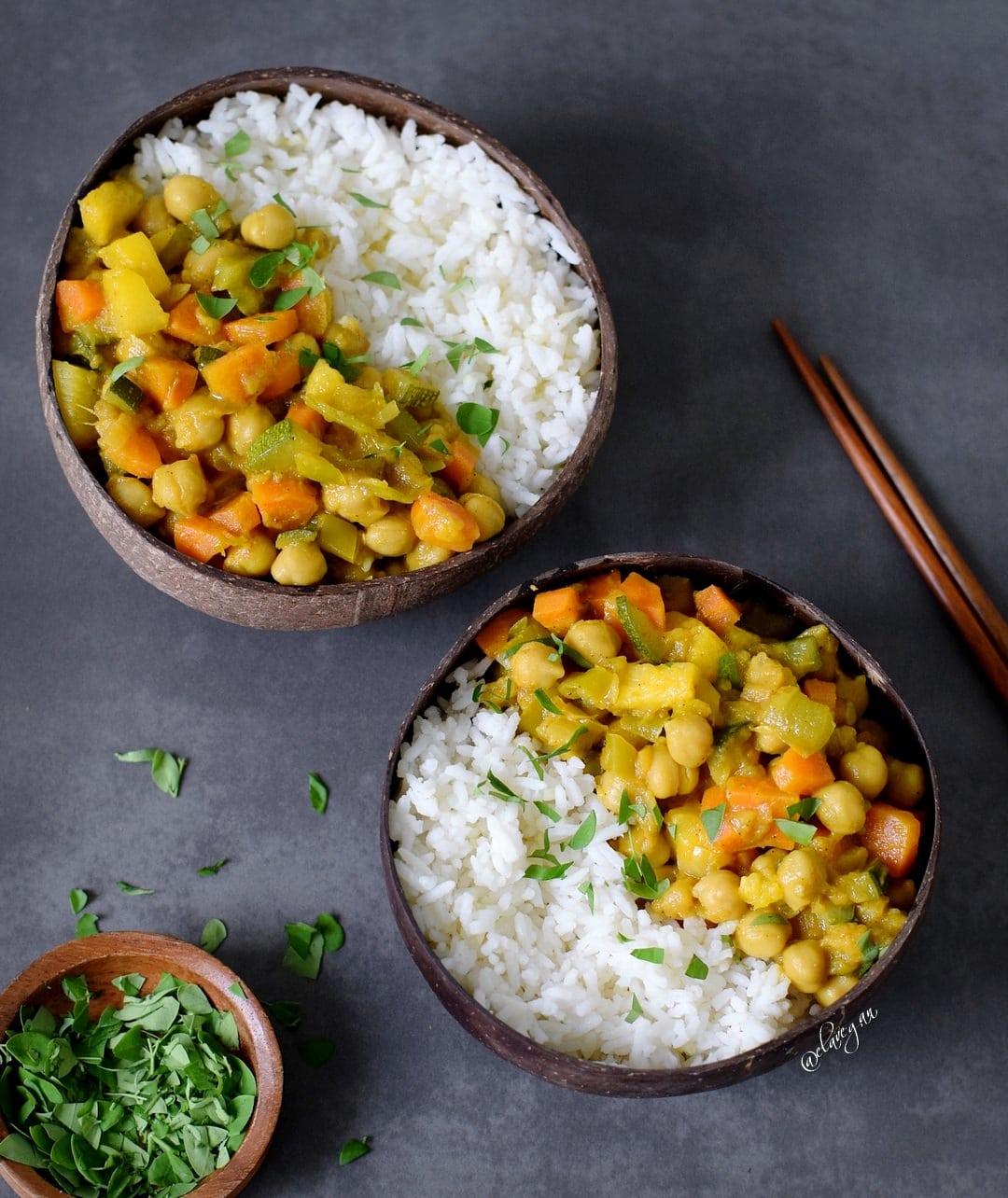 gem se curry rezept mit ananas vegan glutenfrei elavegan german. Black Bedroom Furniture Sets. Home Design Ideas