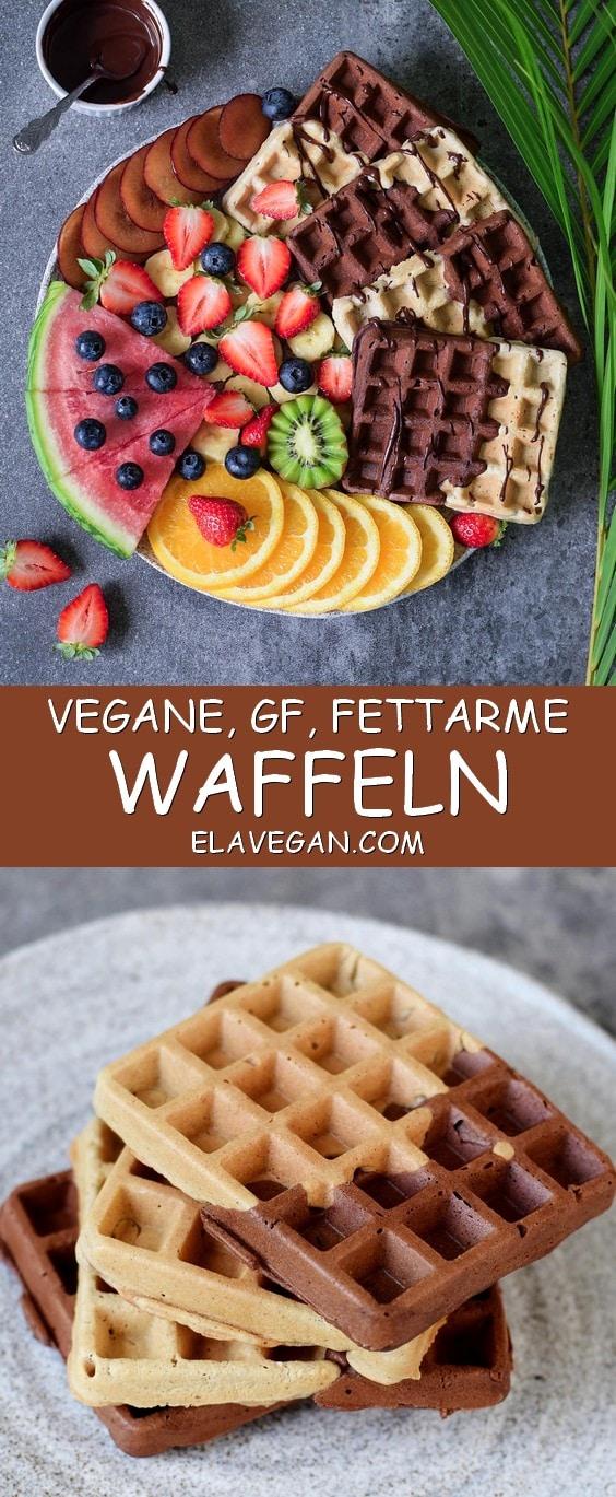 vegane waffeln gesundes rezept glutenfrei elavegan german. Black Bedroom Furniture Sets. Home Design Ideas
