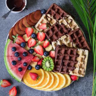 Vegane Waffeln | gesundes Rezept, glutenfrei