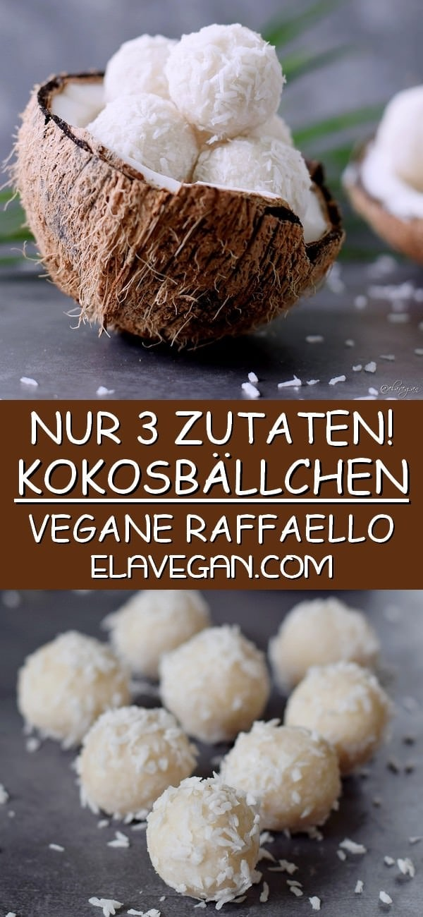 pinterest collage Kokosbällchen vegane einfache raffaello