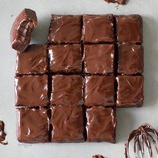 Rohkost Brownies   vegan, glutenfrei, gesund, 6 Zutaten