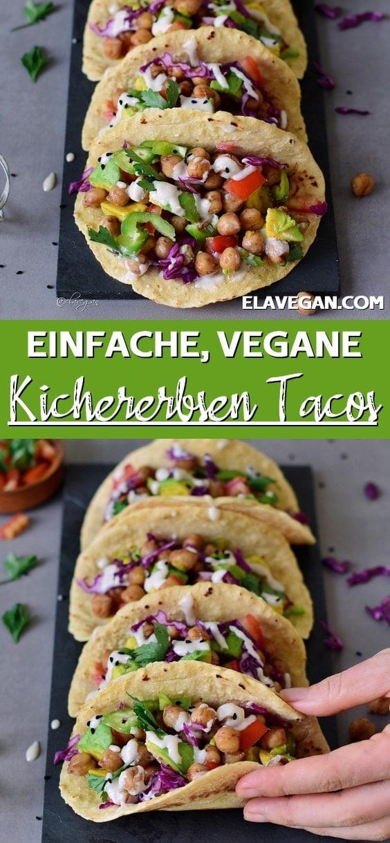 Pinterest Collage Vegane Kichererbsen Tacos