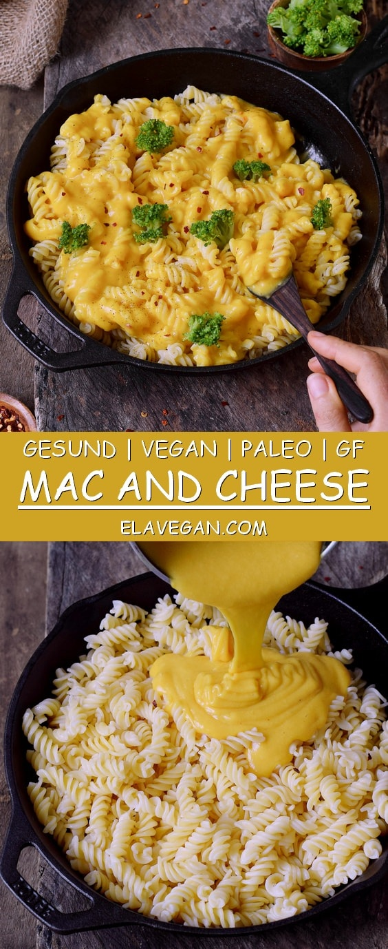 Pinterest Collage Vegan Mac and Cheese Käsesoße