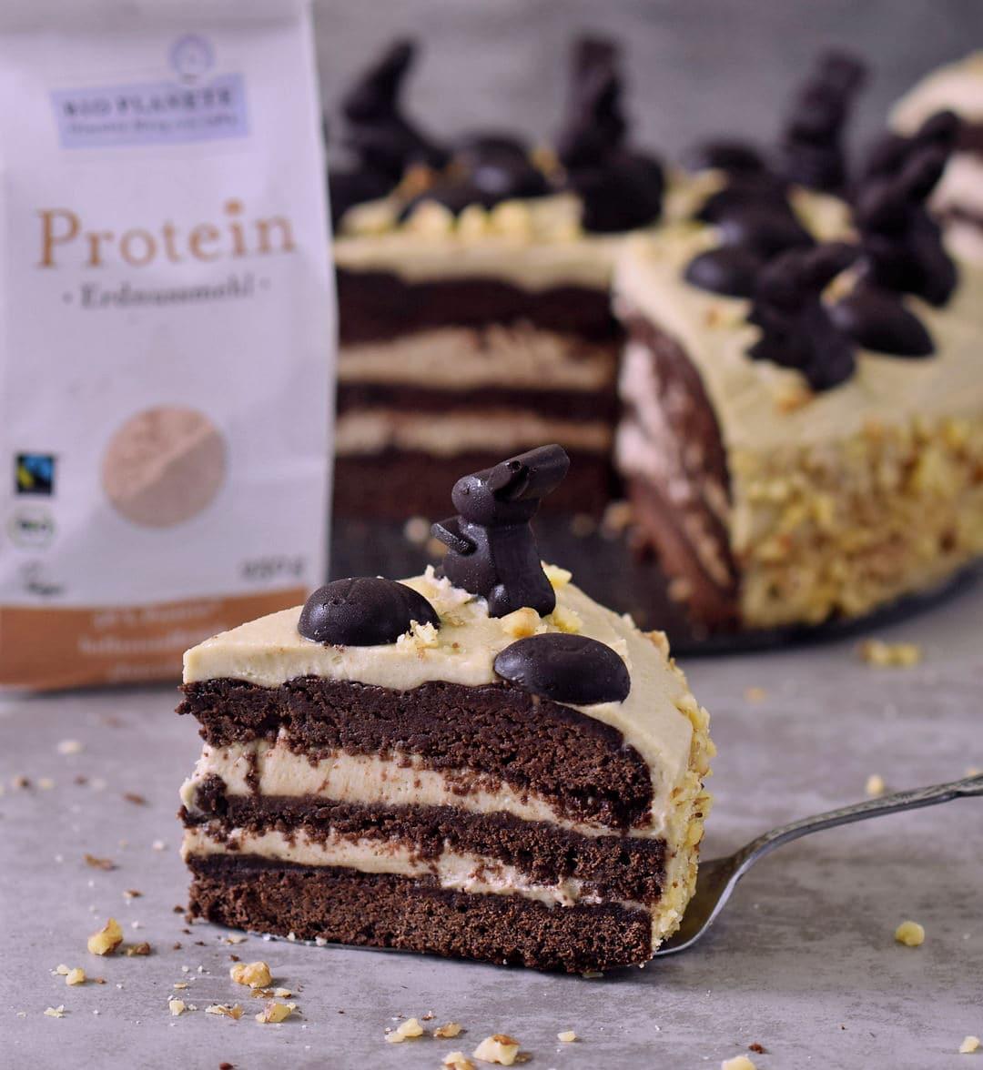 Erdnussbutter Schokoladentorte Vegan Glutenfrei Elavegan