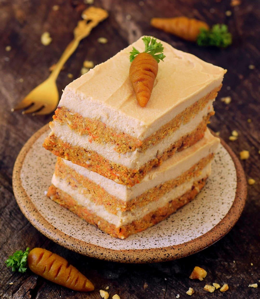 Veganer Karottenkuchen Ohne Zu Backen Glutenfrei Elavegan
