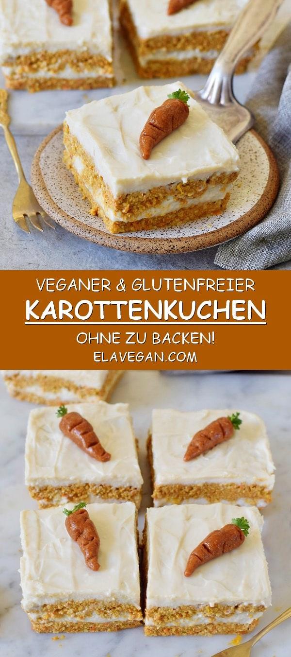 veganer karottenkuchen ohne zu backen glutenfrei gesund