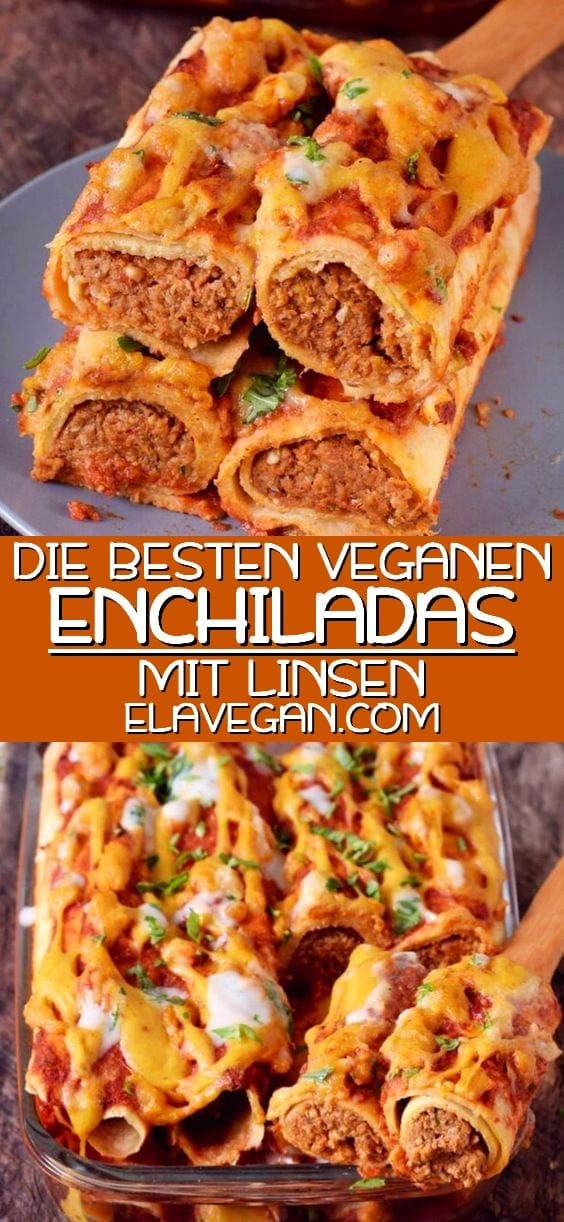 Pinterest collage VEGANE ENCHILADAS