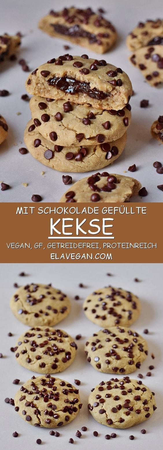 Kekse mit Schokoladenfülliung vegan glutenfrei getreidefrei proteinreich