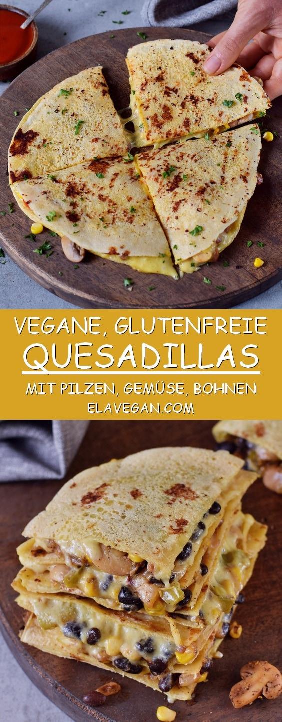 Vegane Quesadillas Pinterest Collage