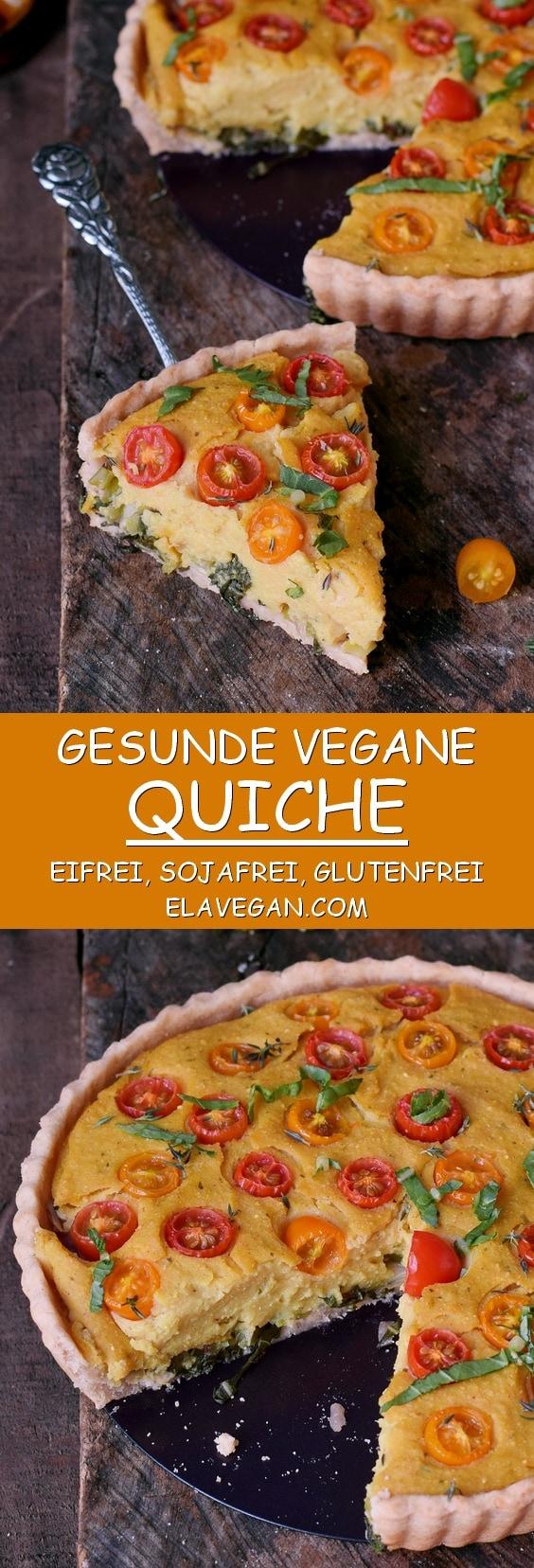 Gesunde vegane Quiche eifrei sojafrei glutenfrei pinterest collage