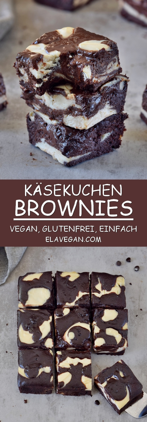 käsekuchen brownies vegan glutenfrei einfach pinterest collage