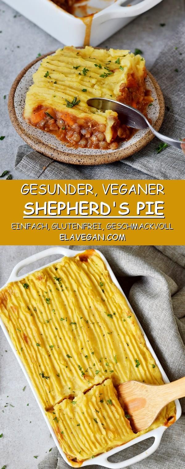 Herzhafter veganer Shepherds Pie einfach glutenfrei pflanzliches rezept
