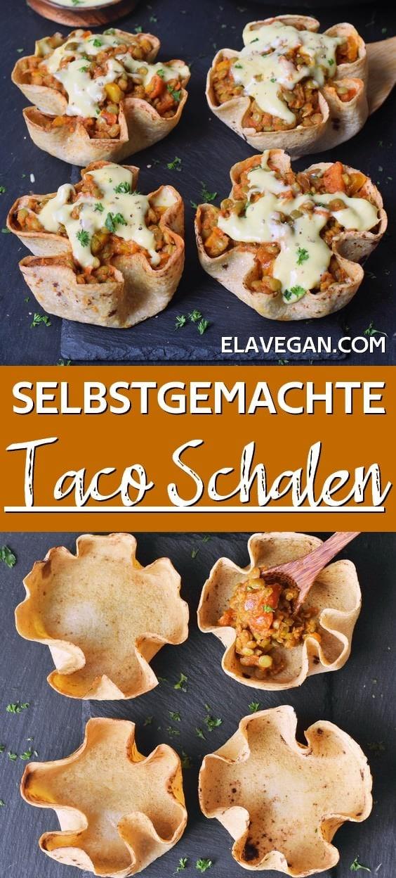 pinterest collage selbstgemachte Taco Schalen