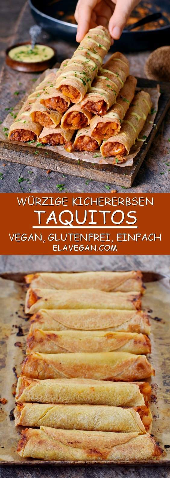 kichererbsen taquitos vegan glutenfrei einfaches rezept