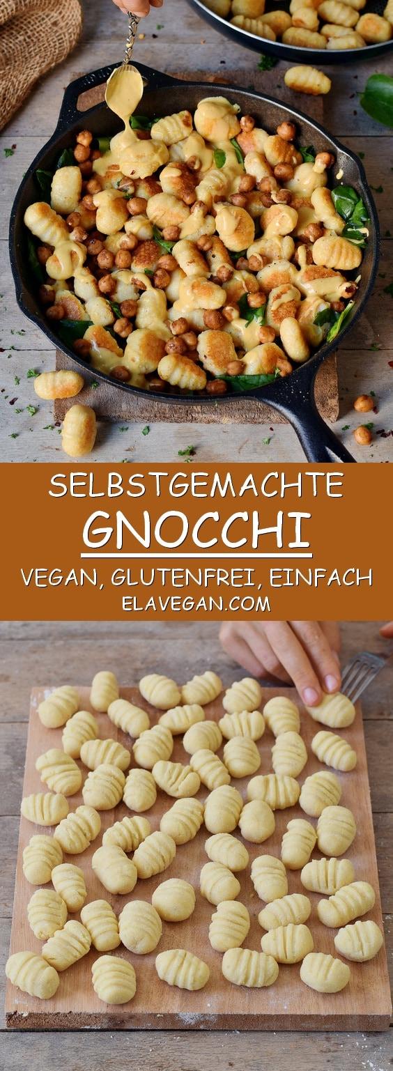 Selbstgemachte glutenfreie Gnocchi vegan, einfaches Rezept Pinterest