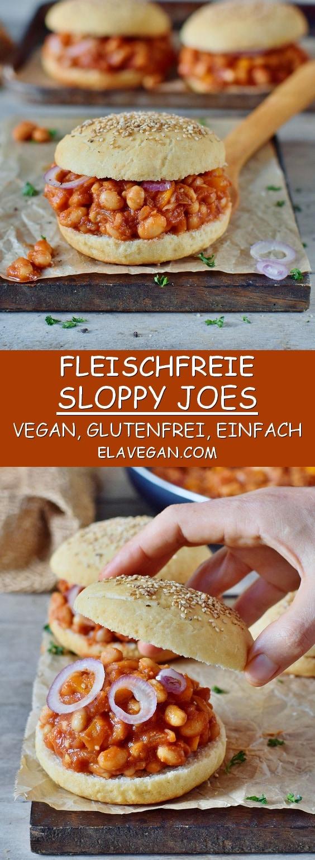 sloppy joes rezept mit bohnen vegan glutenfrei einfache schnelle burger pflanzlich