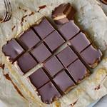 Karamell Brownies Dessert mit Schokolade vegan glutenfrei ohne zu backen