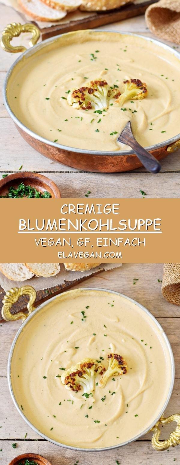 cremige blumenkohlsuppe vegan glutenfrei