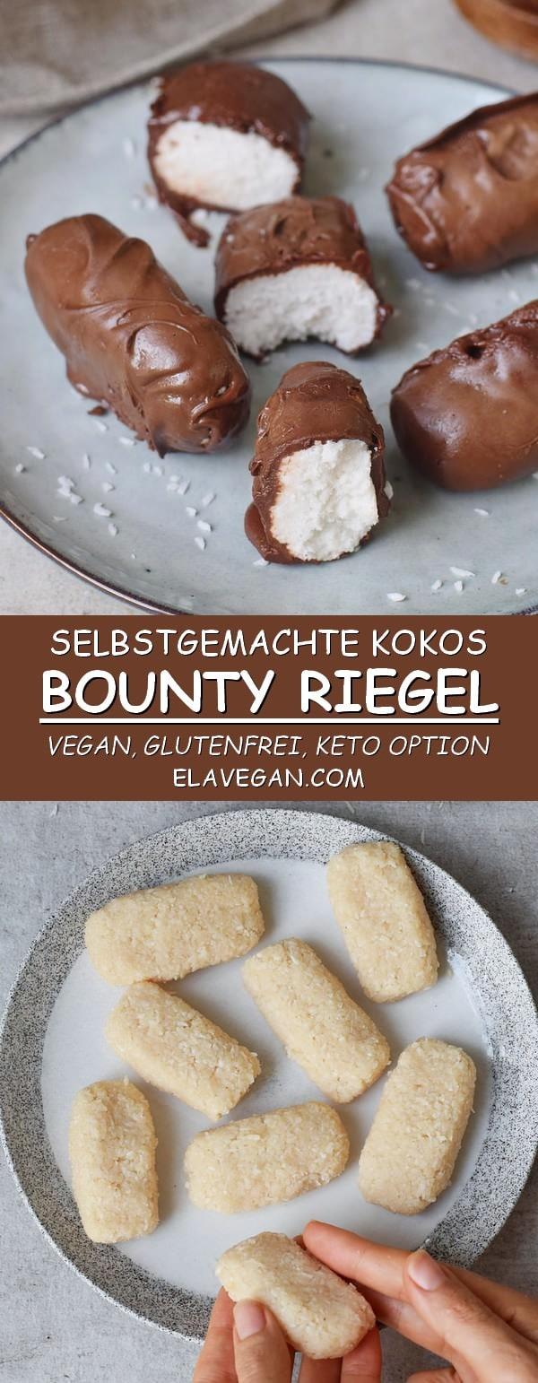 selbstgemachtes Bounty Rezept vegan glutenfrei zuckerfrei