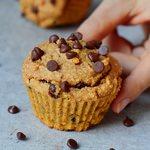 vegane süßkartoffel muffins mit schokoladenchips glutenfrei