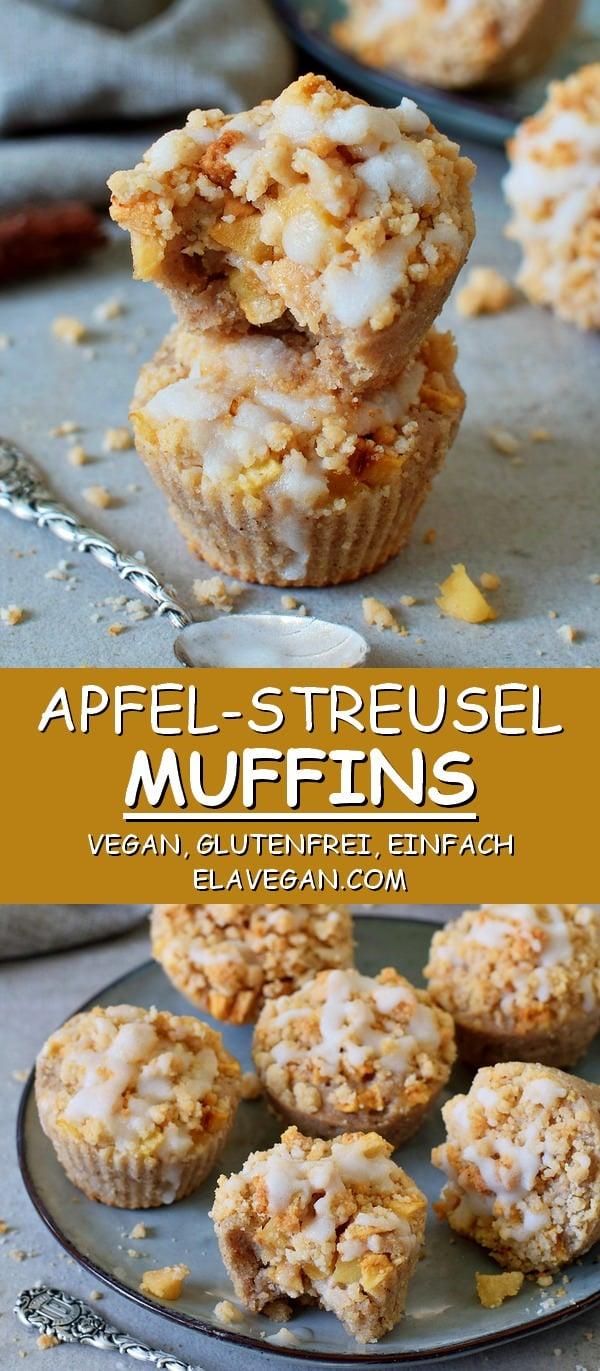 Apfel Streusel Muffins vegan glutenfrei einfach