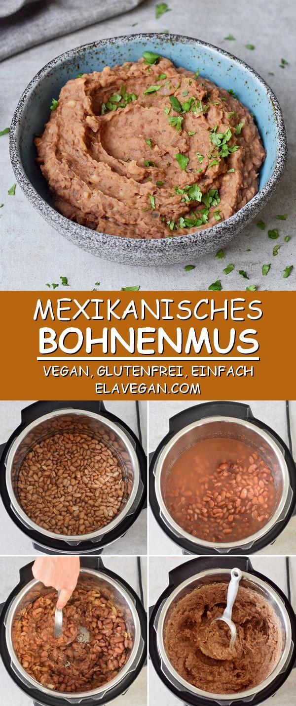 Mexikanisches Bohnenmus vegan, glutenfrei, einfaches Bohnenpüree Rezept
