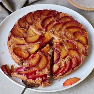 gesunder Kuchen mit Pflaumen vegan glutenfrei ölfrei