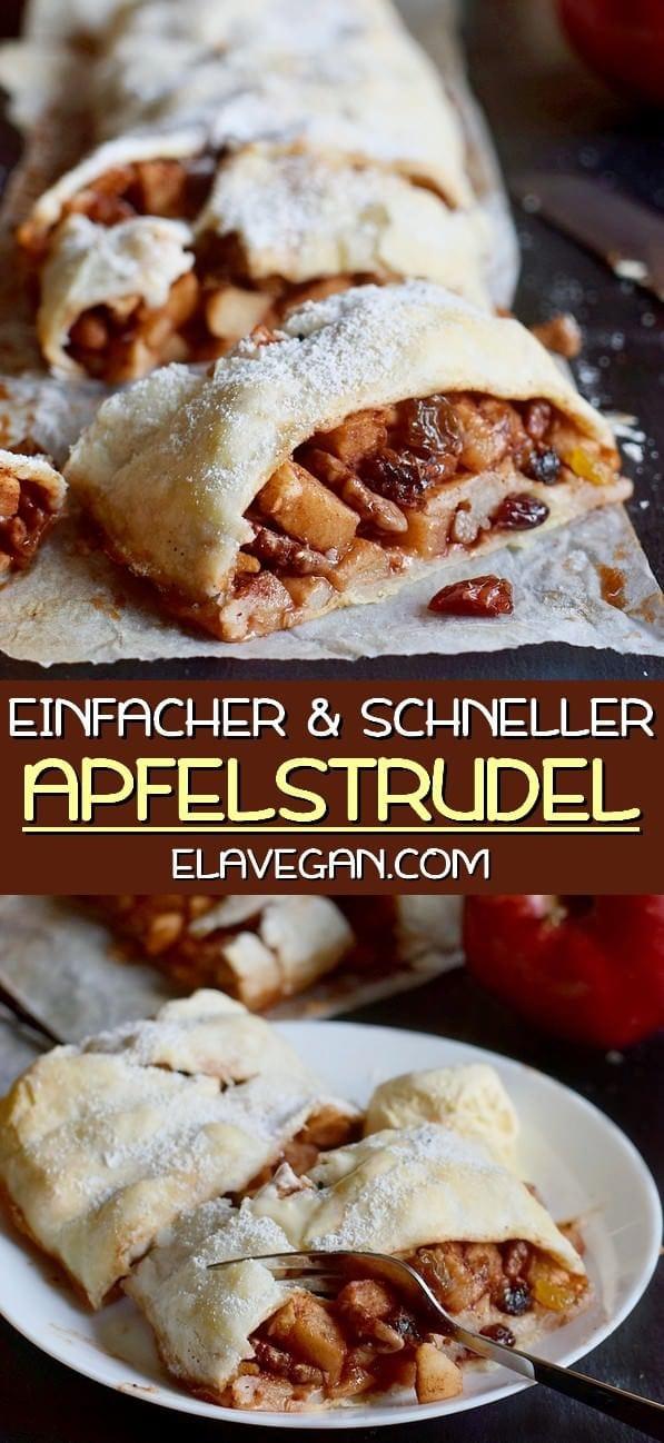 Einfacher und schneller Apfelstrudel