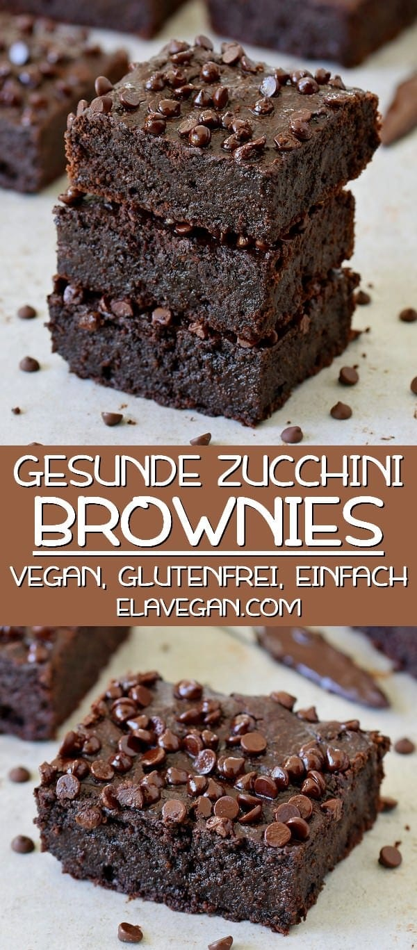 Gesunde Zucchini Brownies vegan glutenfrei