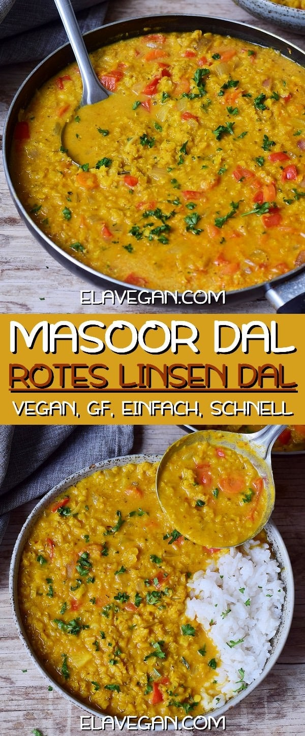 Pinterest Collage Rotes Linsen Dal Rezept