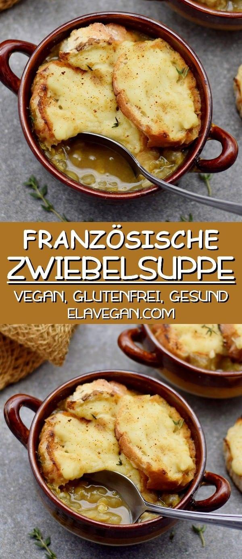 französische Zwiebelsuppe vegan glutenfrei gesund