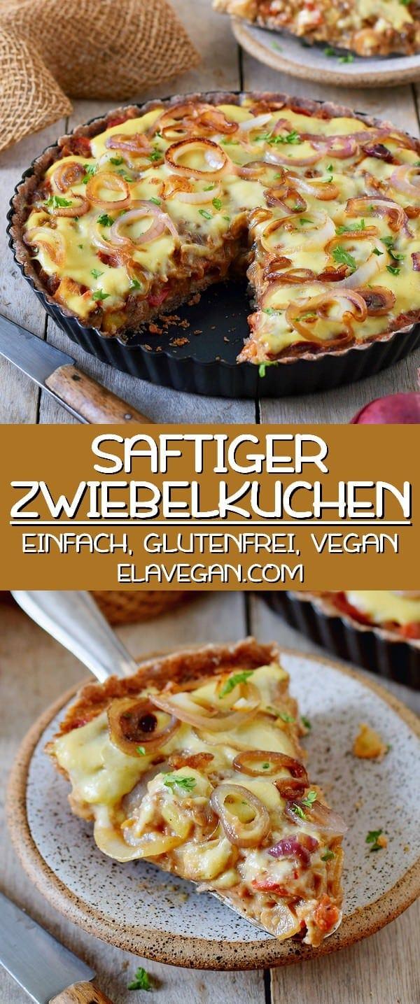 saftiger Zwiebelkuchen einfach glutenfrei vegan