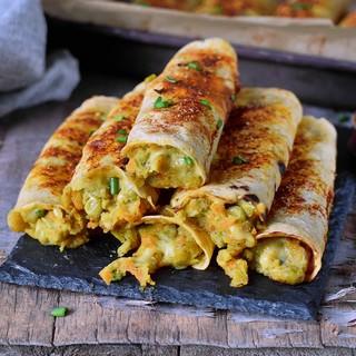 Gemüse Taco Rollen