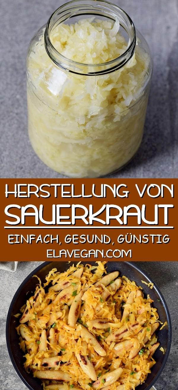 pinterest collage Herstellung von Sauerkraut