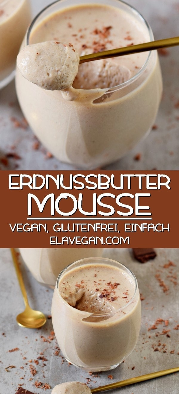 Pinterest Collage über Erdnussbutter Mousse